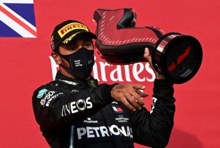 Lewis Hamilton gana en Imola