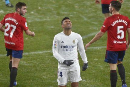 ¡Se escapa el liderato! Real Madrid empata ante el Osasuna