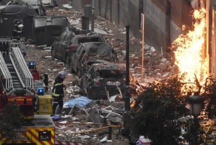 Al menos dos muertos tras explosión en edificio de Madrid