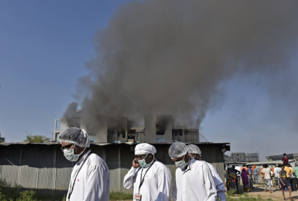 Se registra incendio en el mayor fabricante de vacunas del mundo