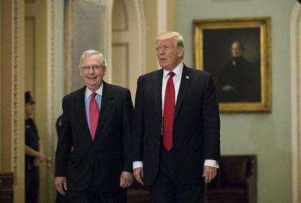Trump arremete contra McConnell, líder republicano en el Senado