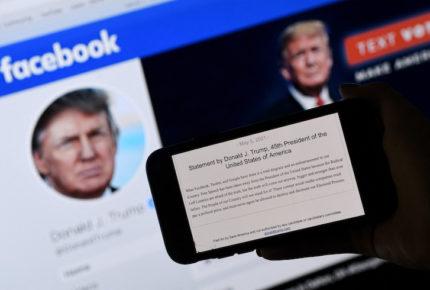 Facebook mantiene veto a Trump... por ahora