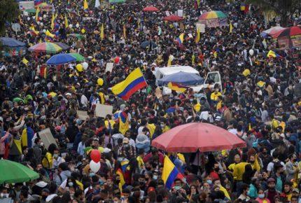 Manifestantes en Colombia piden garantías para protestar