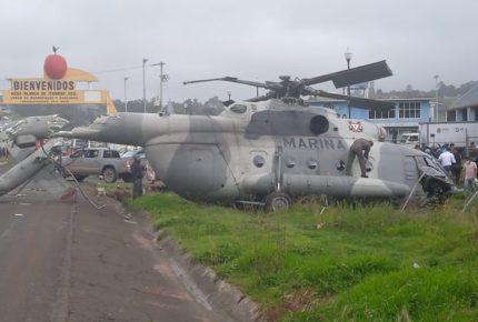 Se desploma helicóptero de la Semar en Hidalgo