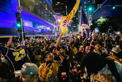 Festejo por triunfo de los Lakers termina con 76 detenidos