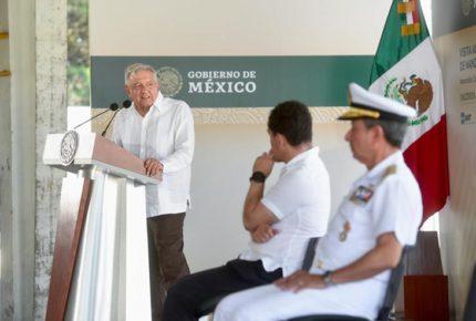 Control de Marina en puertos, para evitar ingreso de drogas: AMLO