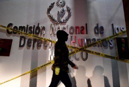 En apoyo a toma en CDMX, 'clausuran' sede de CNDH en Michoacán