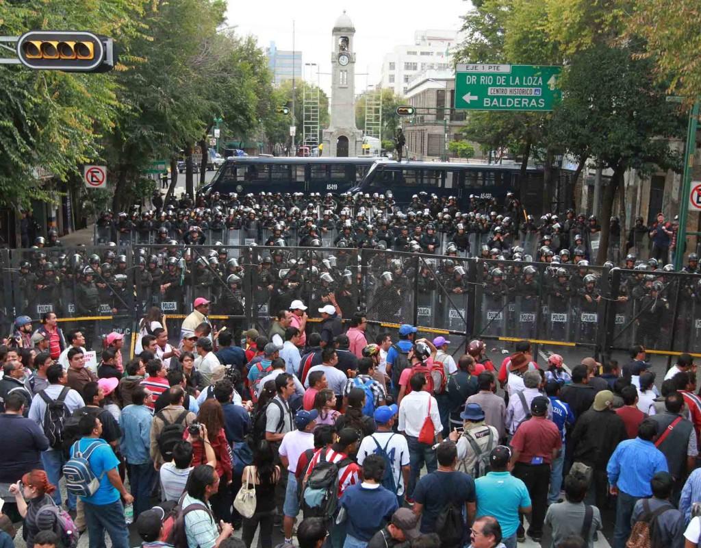 La CNTE iniciará marcha a las 16:00 sobre Paseo de la Reforma