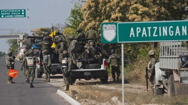 Hay un virtual estado de sitio en Apatzingán