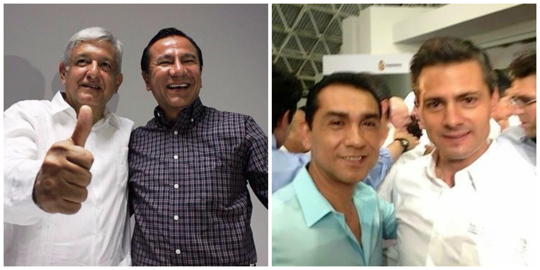 Edil de Iguala se fotografió con AMLO y Peña Nieto