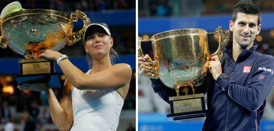 Djokovic y Sharapova ganan Abierto de Pekín