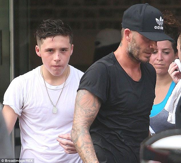 Beckham sufre un accidente de tráfico junto a su hijo