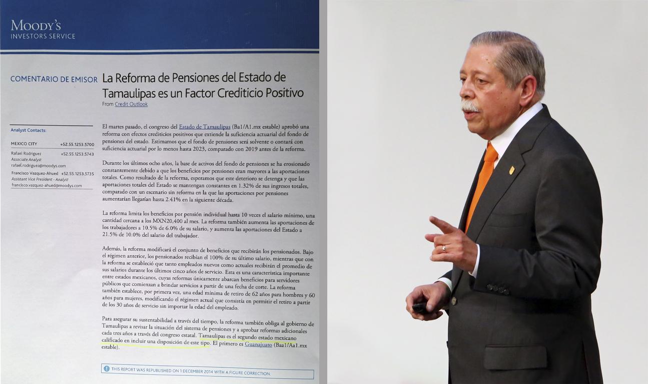 Califican a Tamaulipas como un estado con finanzas sanas y solventes