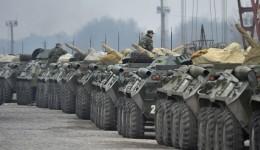 Ukrainian military vehicles