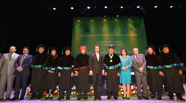 Gobierno de chiapas reconoce aportaci n de universidad de for Universidad de arte