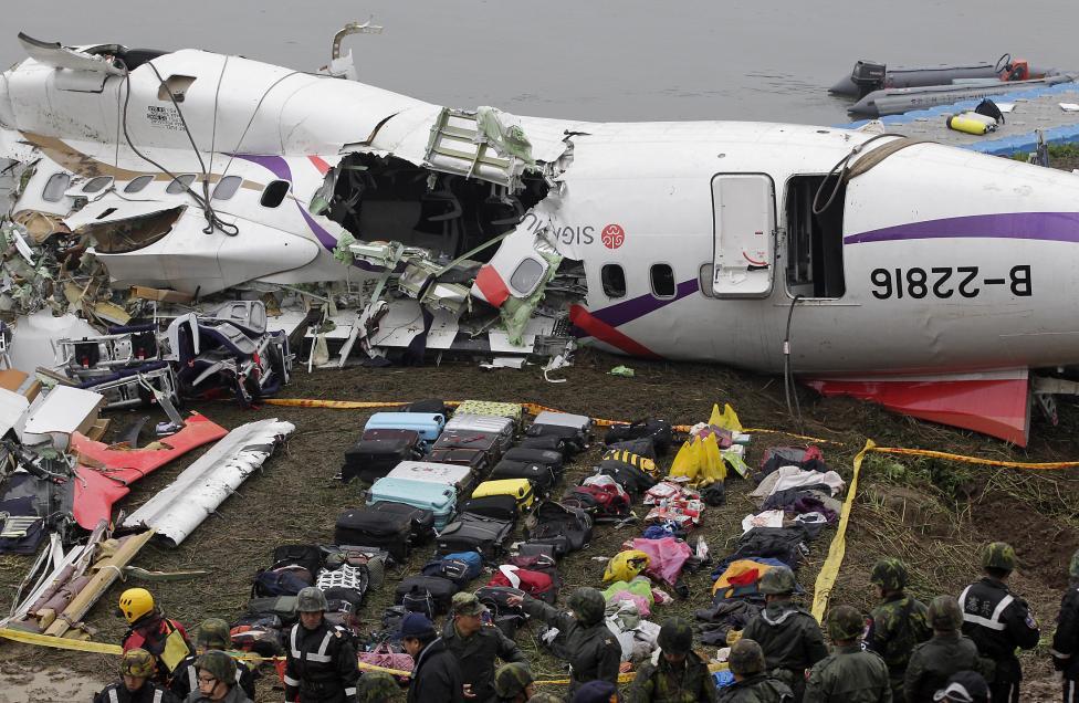Cayó avión en Taiwán por falla de sus dos motores