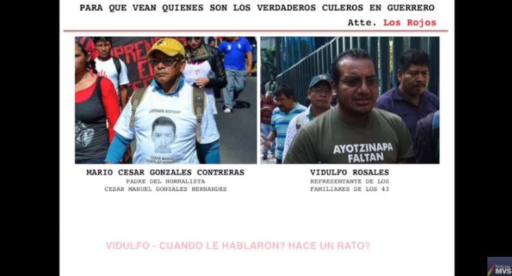 Audio acusa vínculos entre Guerreros Unidos y abogado de normalistas