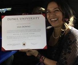 Universidad DePaul honra a cantante oaxaqueña