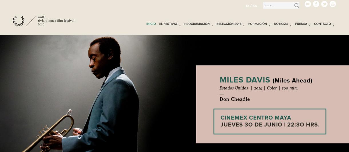 Cierra Miles Davis el rmff 2016