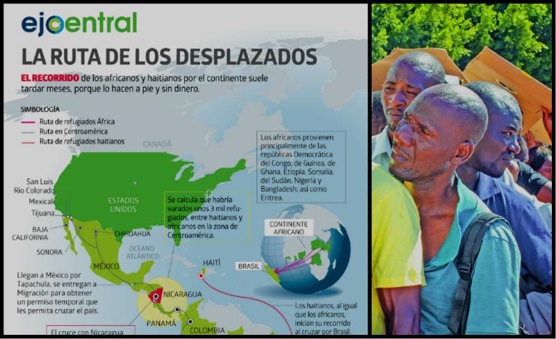 MAPA | La ruta de los desplazados