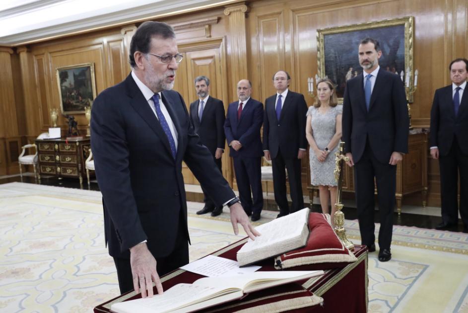 Rajoy jura como presidente de España