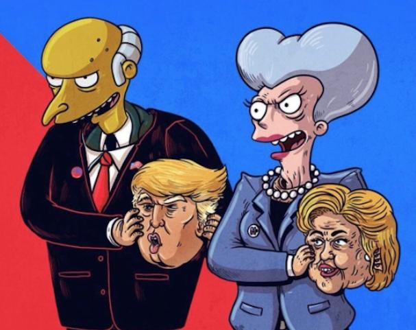 Duelo electoral Clinton-Trump en Memelandia