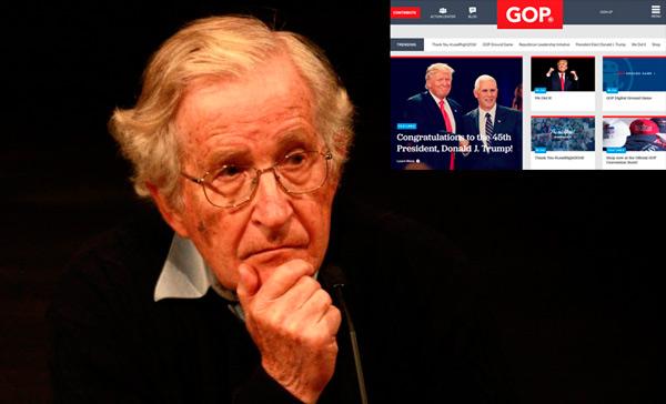 Republicanos los más peligrosos: Chomsky