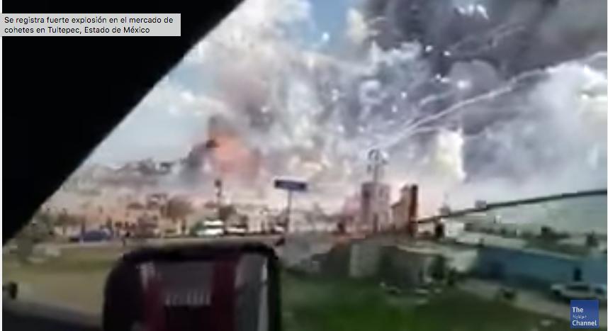 VIDEO | Instante de explosión de polvorín en Tultepec