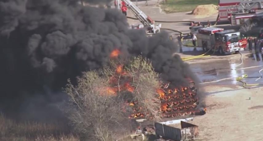 Incendio provoca alarma en Texas