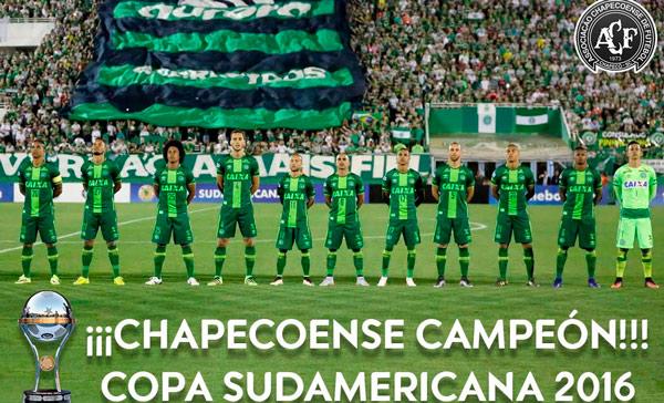 Chapecoense campeón de la Sudamericana