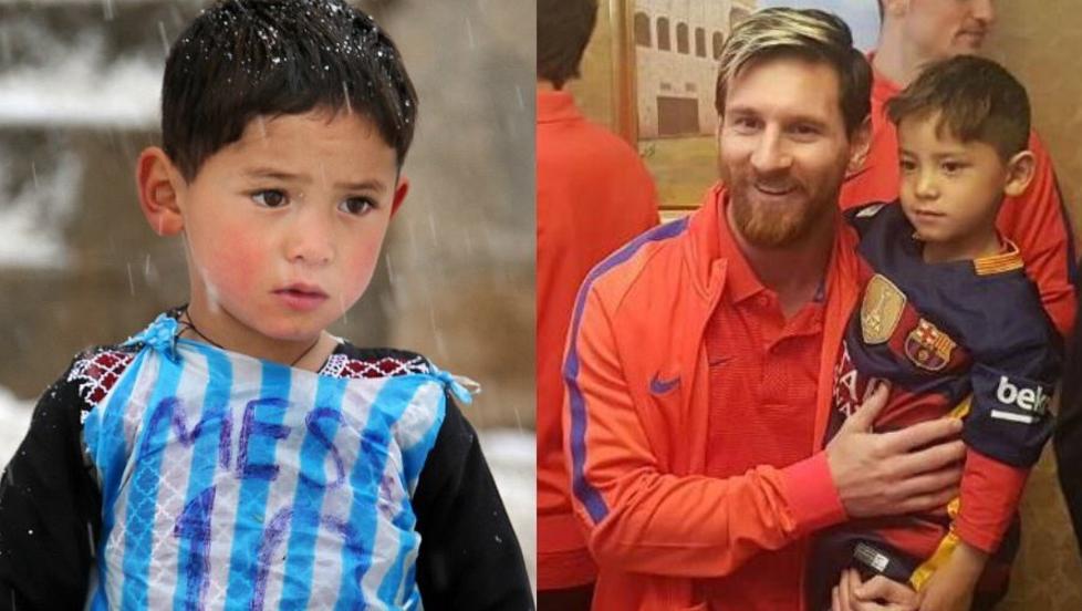 Sueño hecho realidad, niño afgano conoce Messi