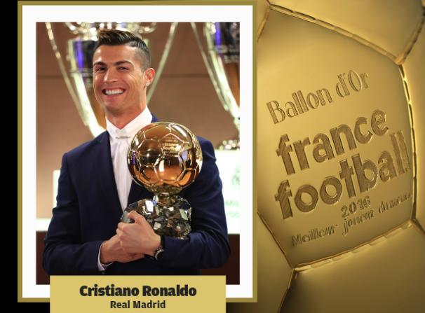 Ronaldo conquista su cuarto Balón de Oro