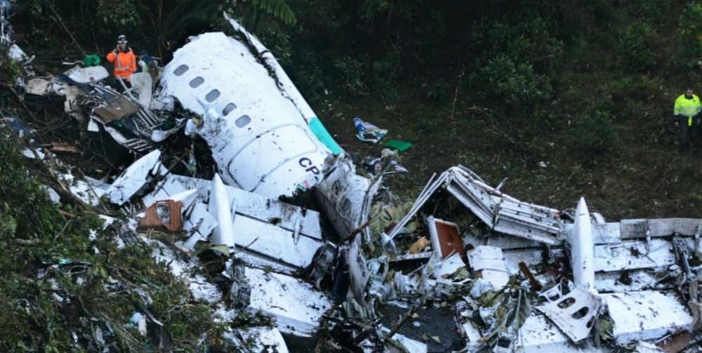 Error humano avionazo del Chapecoense
