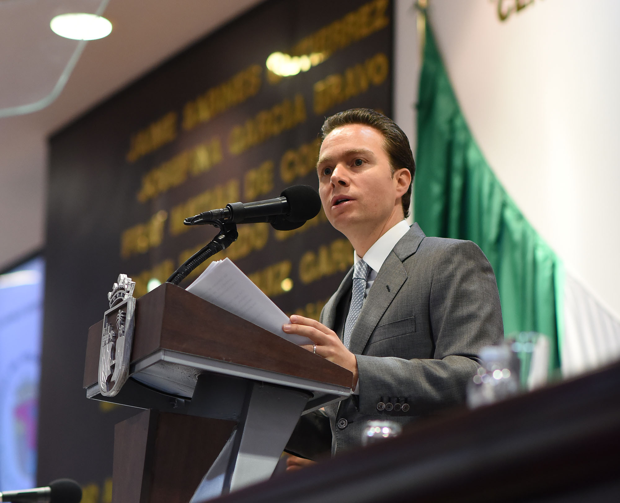 En su Cuarto informe de Gobierno, Velasco Coello llama a la Unidad Nacional