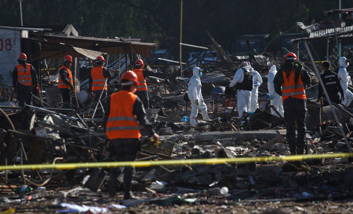 Queda un hospitalizado en Cruz Roja por explosión en Tultepec