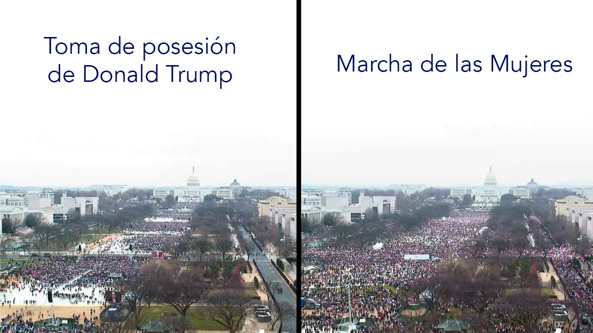 #WomensMarch supera a investidura de Trump