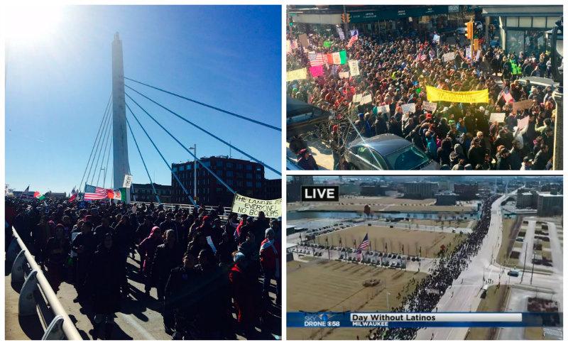 """""""Día sin latinos"""" suma a miles en Wisconsin"""