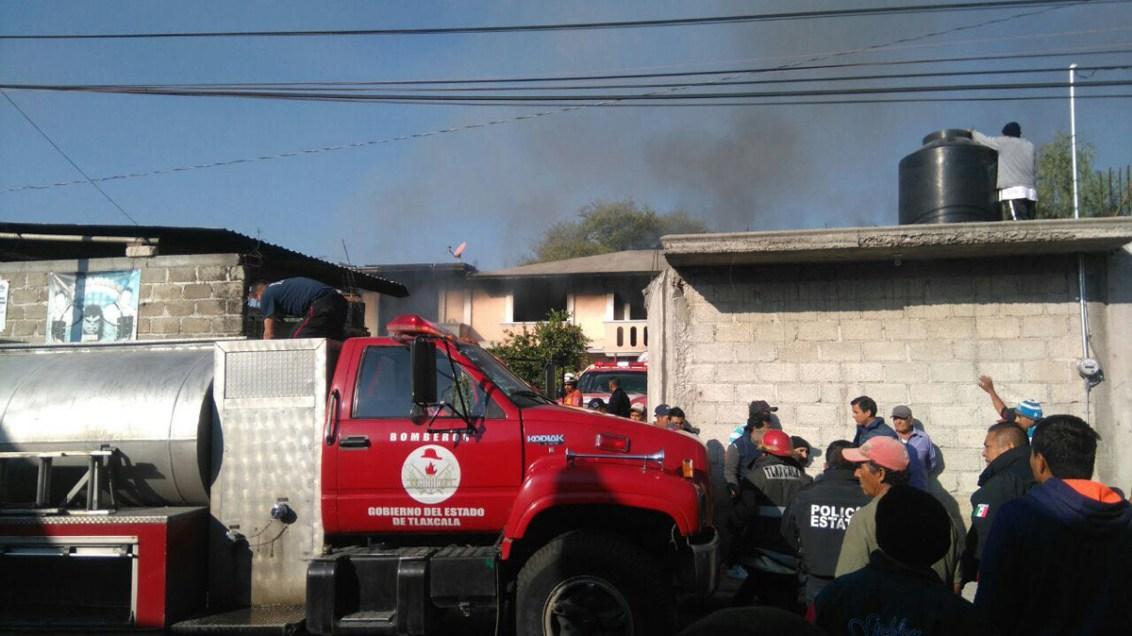 Mueren 2 al explotar polvorín en Tlaxcala