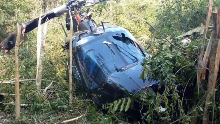 Se desploma helicóptero en Veracruz