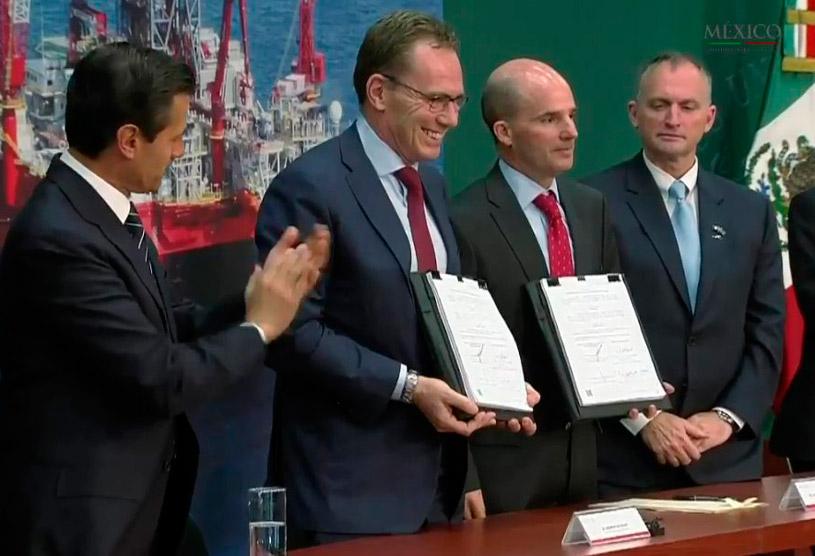 Pemex y BHPBilliton firman contrato por Trión