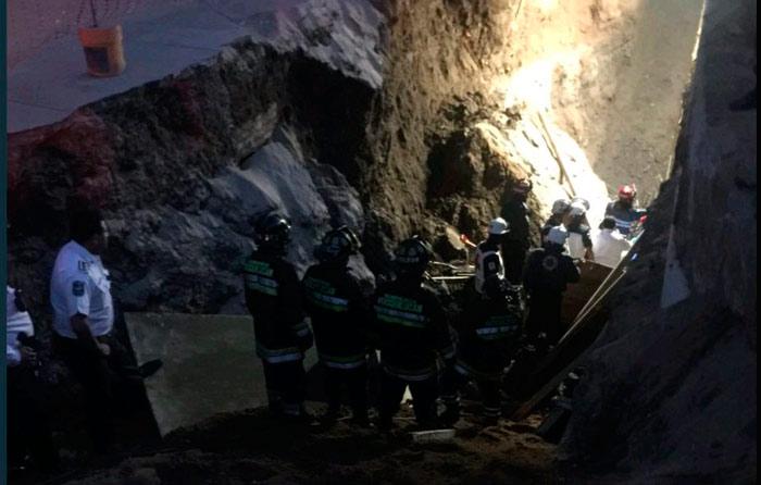 Derrumbe en Huixquilucan; hay 3 muertos
