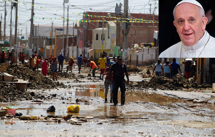 Papa dona 100 mil dólares para damnificados en Perú
