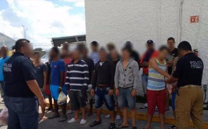 PF rescata a 31 cubanos en Quintana Roo