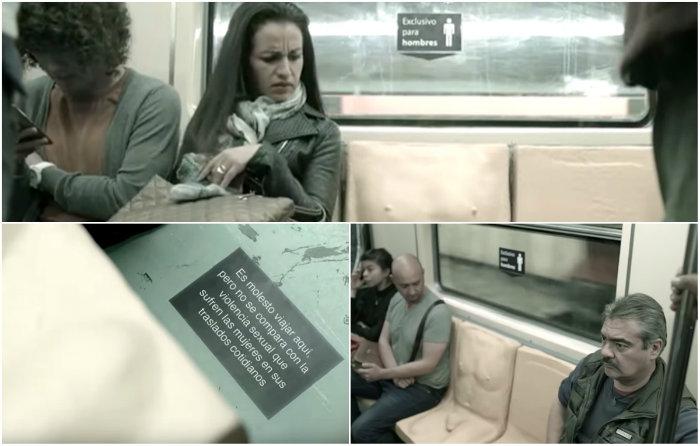VIDEO Evidencian lo que sienten mujeres por acoso en Metro