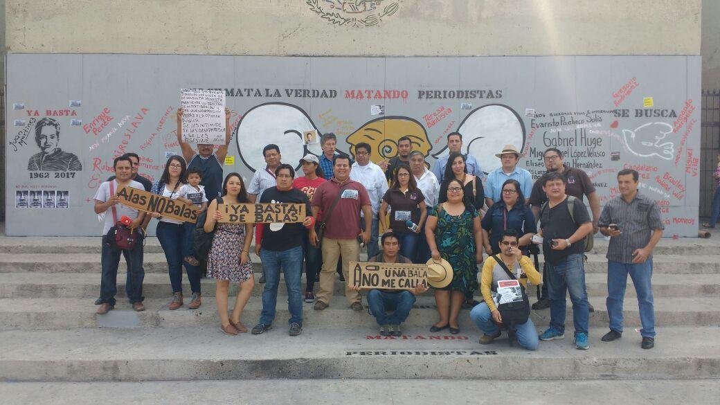 Respaldan protestas de periodistas en Veracruz