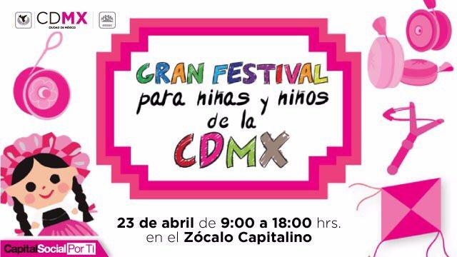 Alistan festival para los niños en el Zócalo