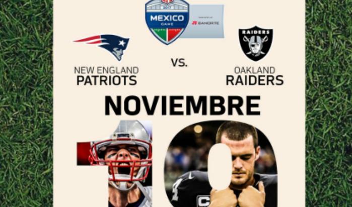 Patriotas vs Raiders, el 19 de noviembre en el Azteca