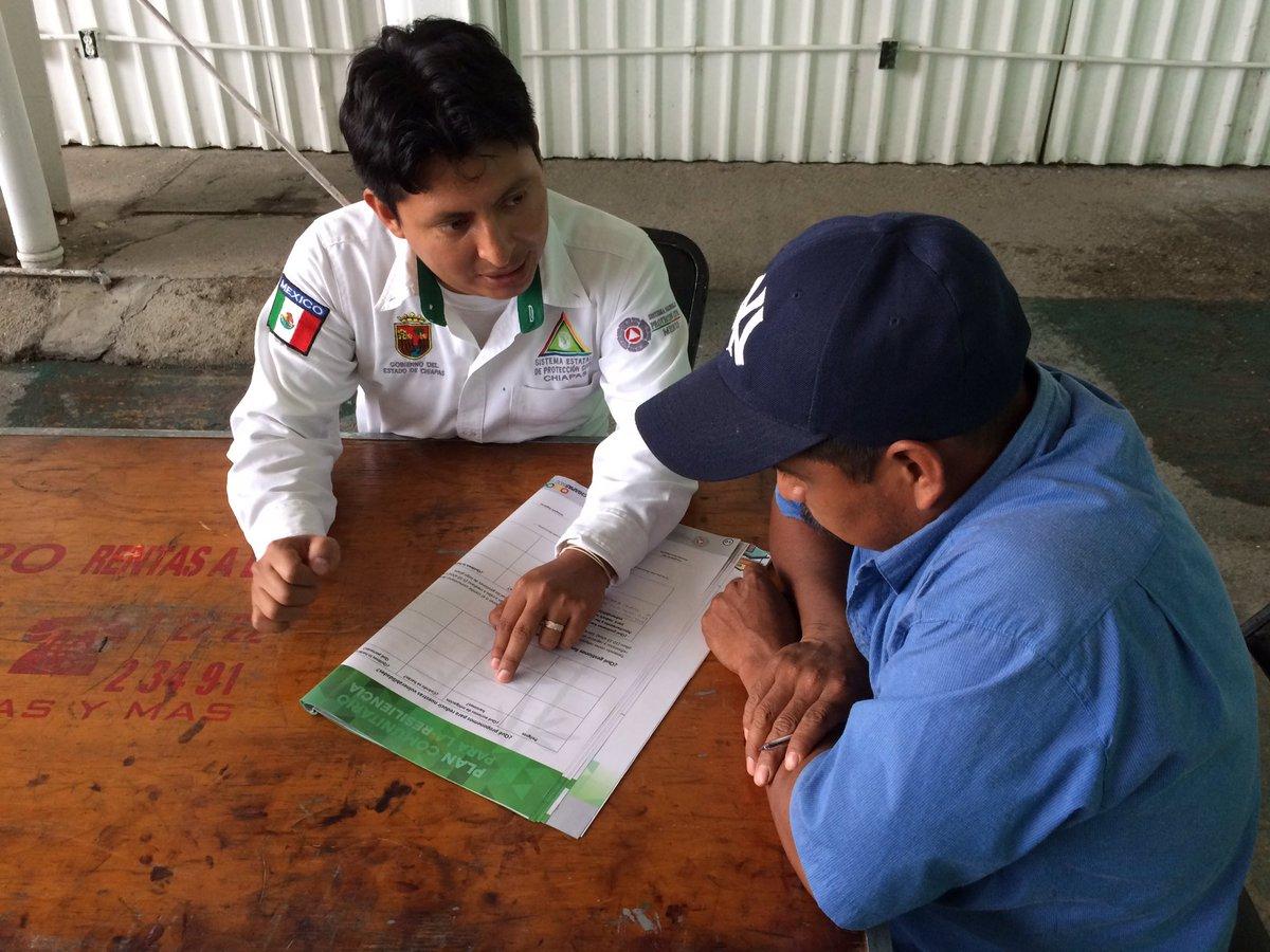 Más de 6 mil comités realizan labores de protección civil en las 15 regiones de Chiapas