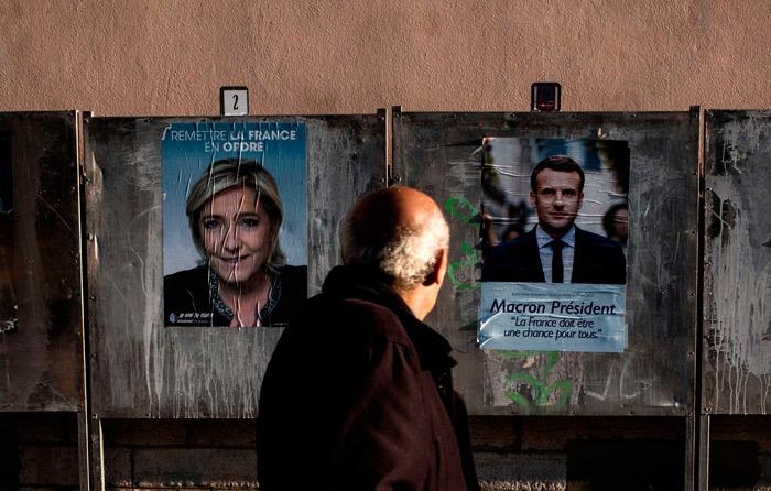 Arranca duelo entre Macron y Le Pen