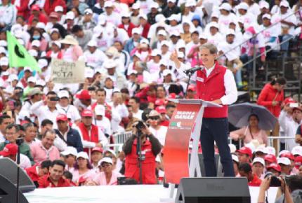 De nuestro triunfo depende PRI y México: Del Mazo